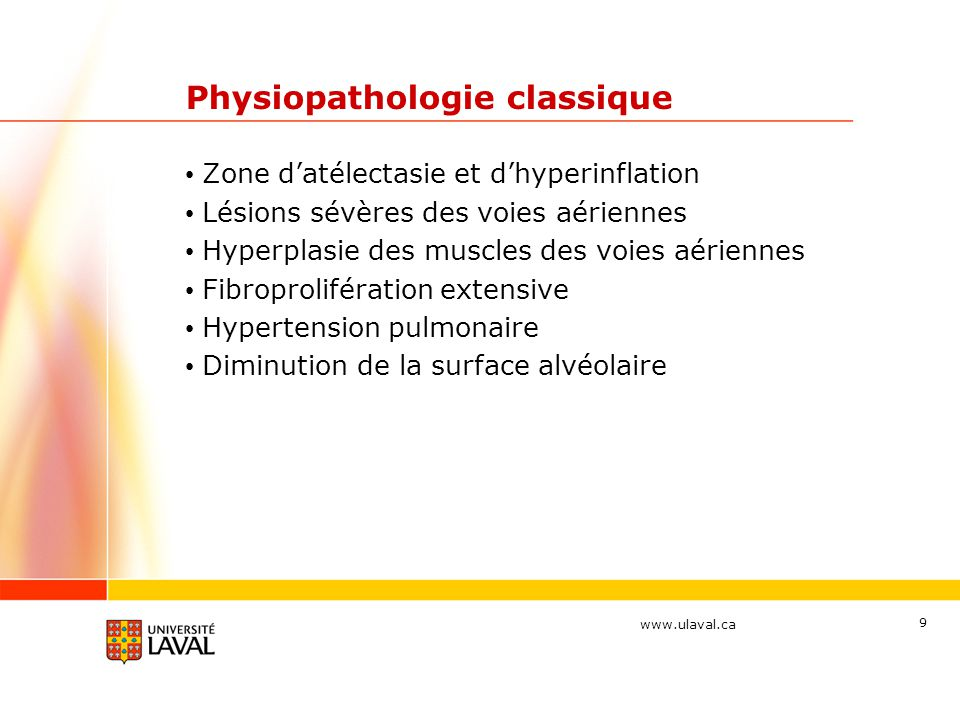 Physiopathologie classique