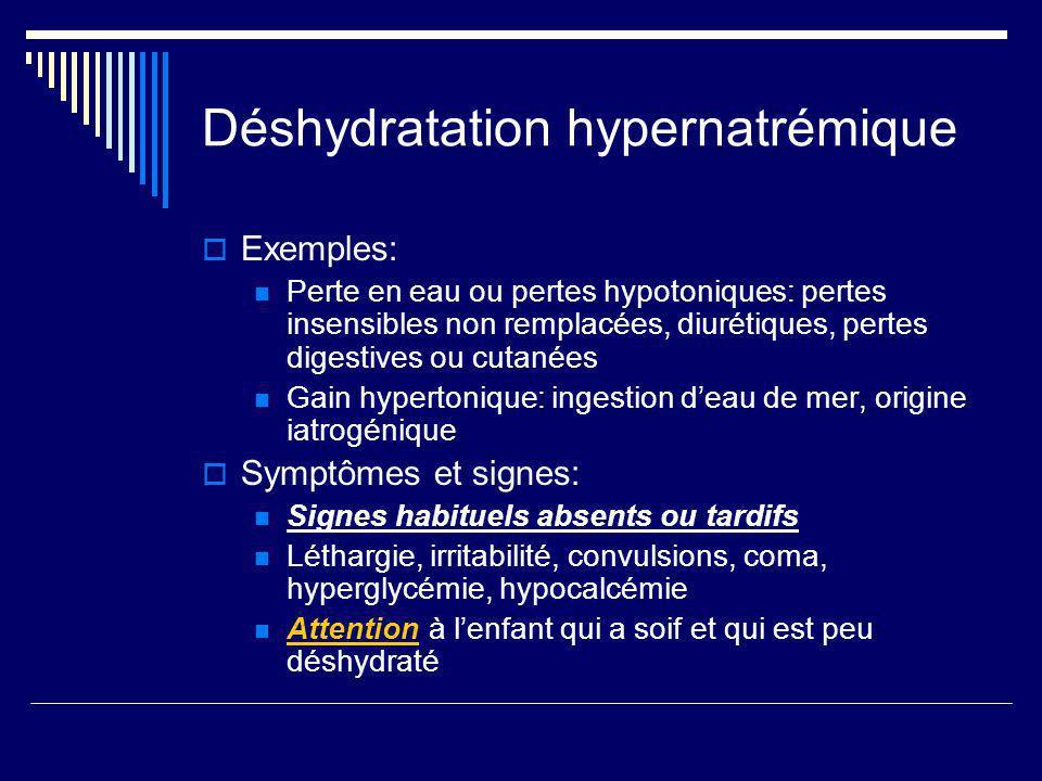 Déshydratation hypernatrémique