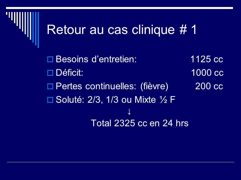 Retour au cas clinique # 1