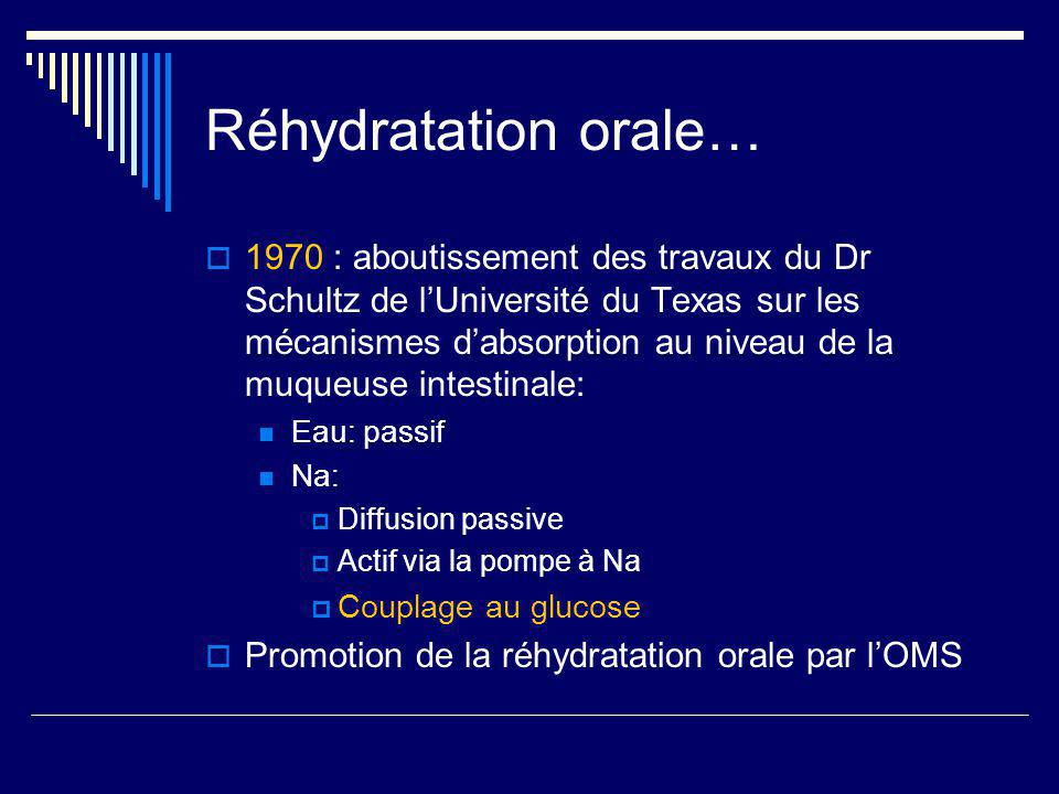 Réhydratation orale…