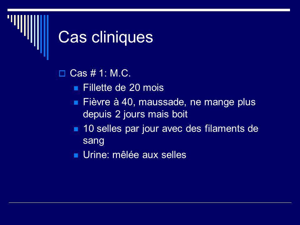Cas cliniques Cas # 1: M.C. Fillette de 20 mois