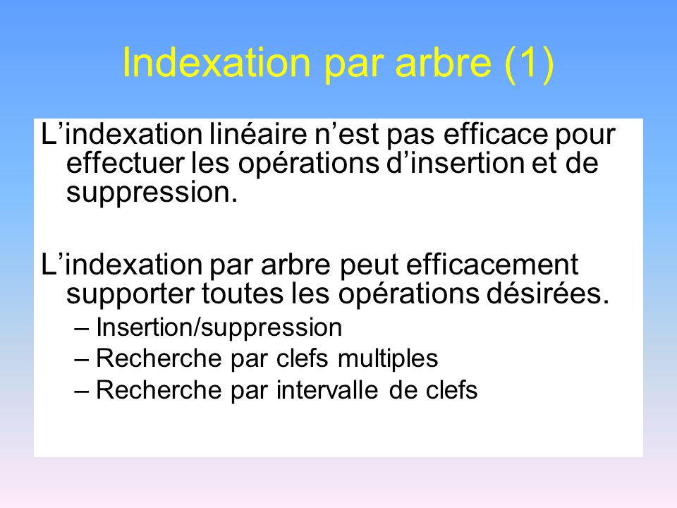 Indexation par arbre (1)