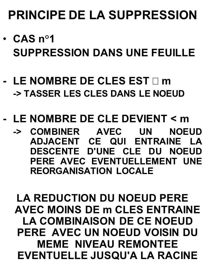 PRINCIPE DE LA SUPPRESSION