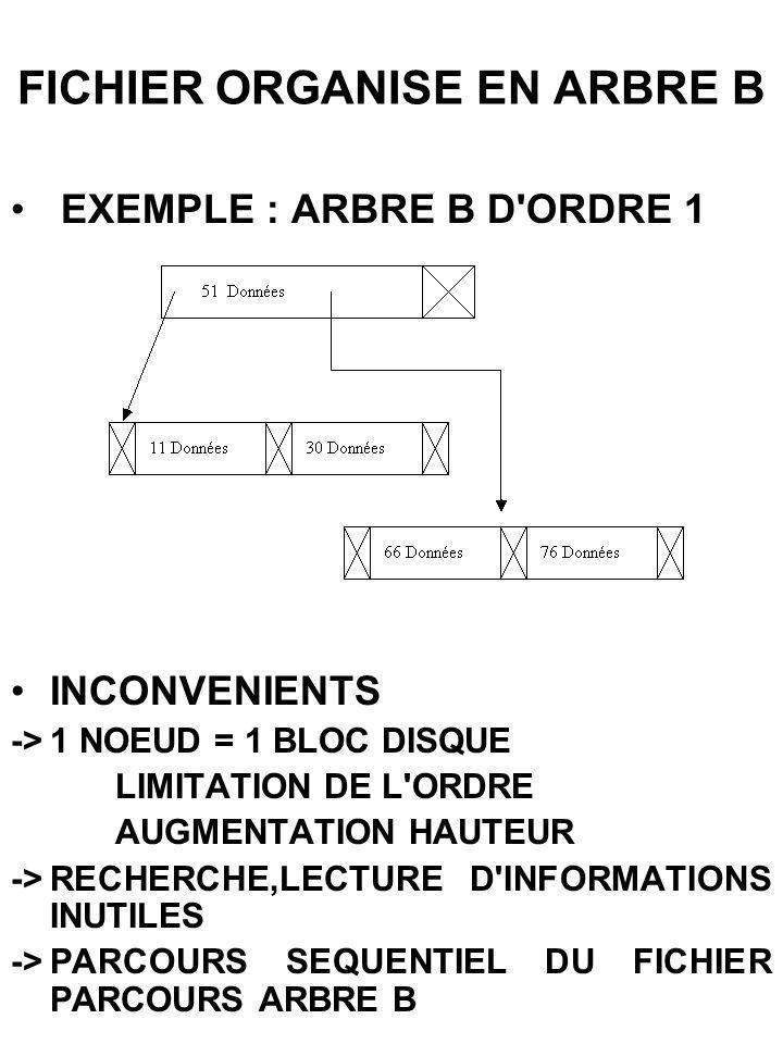 FICHIER ORGANISE EN ARBRE B