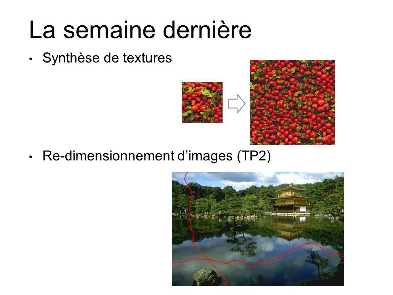 La semaine dernière Synthèse de textures
