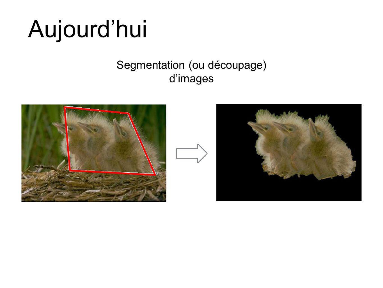 Segmentation (ou découpage) d'images