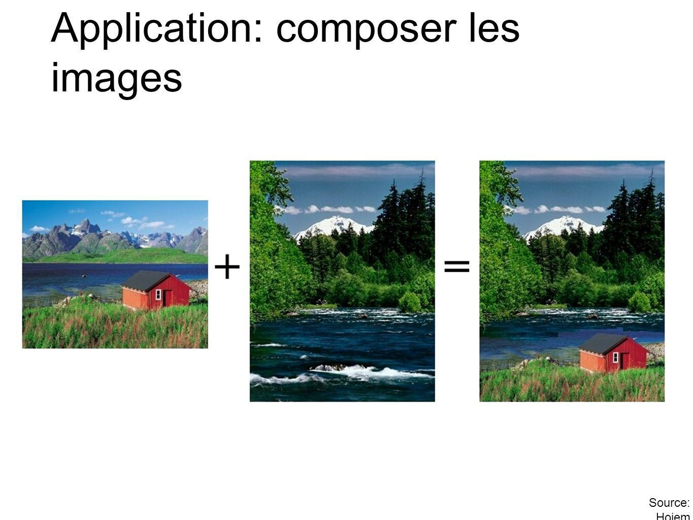 Application: composer les images