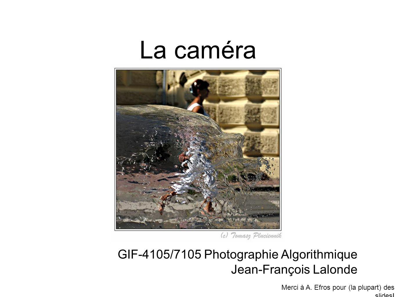 La caméra GIF-4105/7105 Photographie Algorithmique