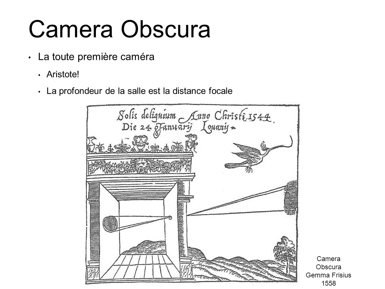 Camera Obscura La toute première caméra Aristote!