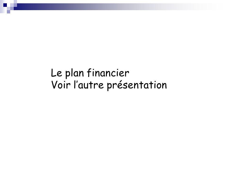 Le plan financier Voir l'autre présentation