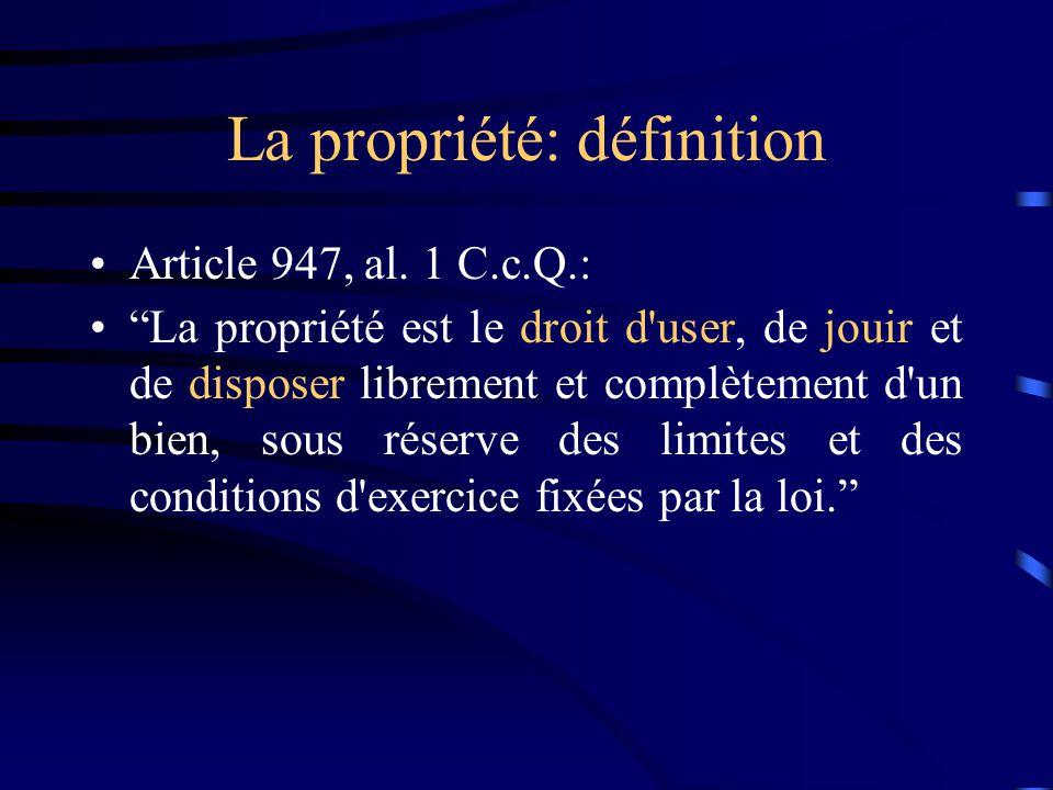 La propriété: définition
