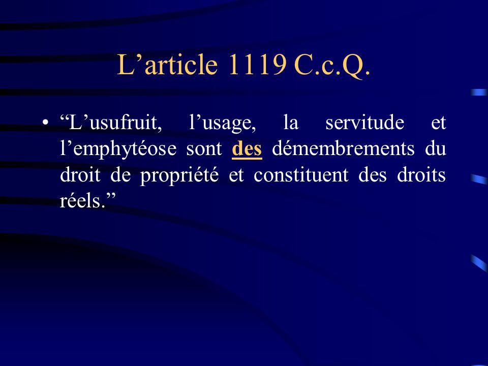 L'article 1119 C.c.Q.