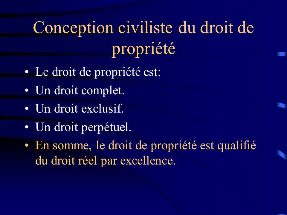 Conception civiliste du droit de propriété