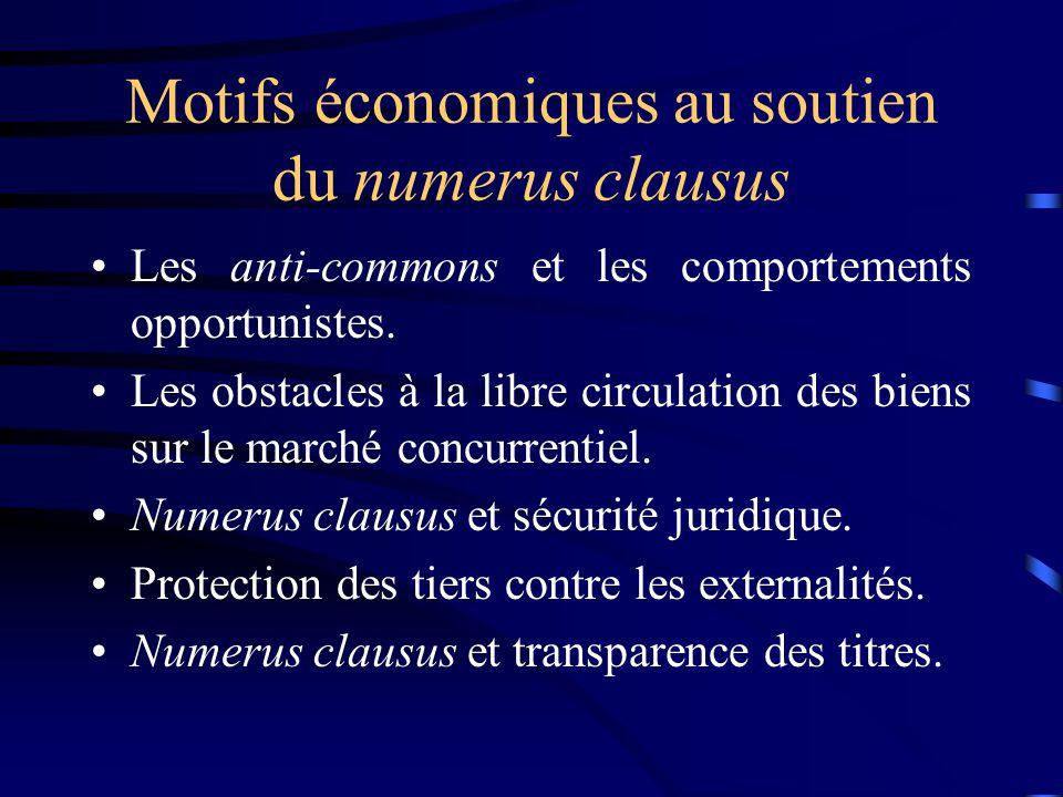 Motifs économiques au soutien du numerus clausus