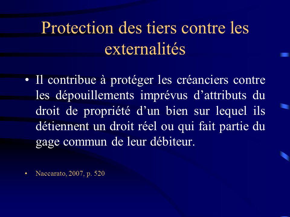 Protection des tiers contre les externalités