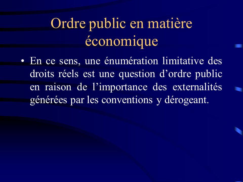 Ordre public en matière économique