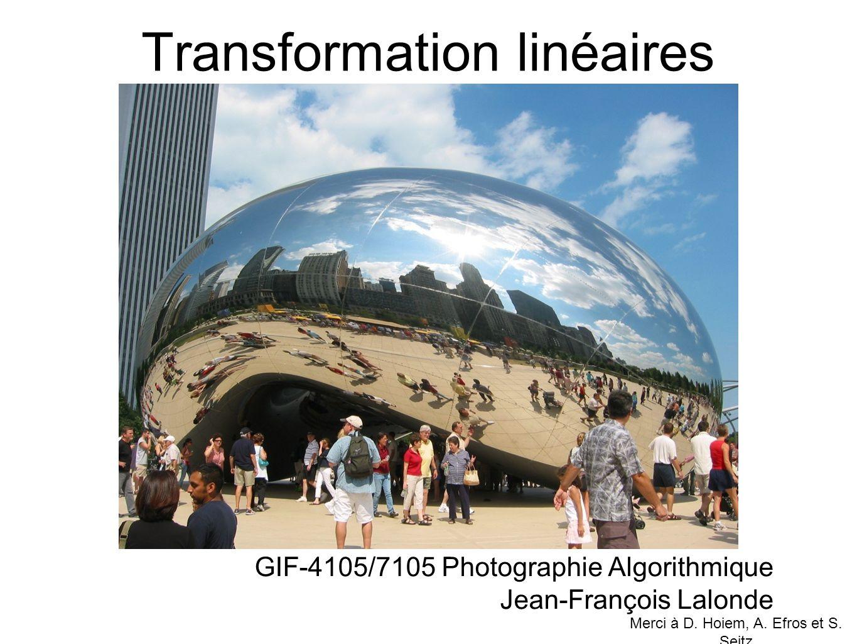 Transformation linéaires