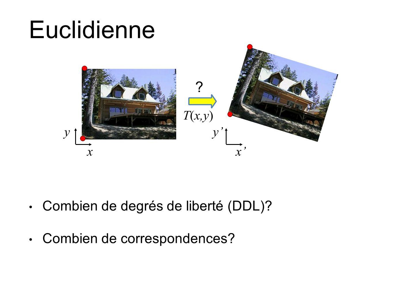 Euclidienne Combien de degrés de liberté (DDL)