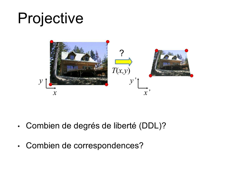 Projective Combien de degrés de liberté (DDL)