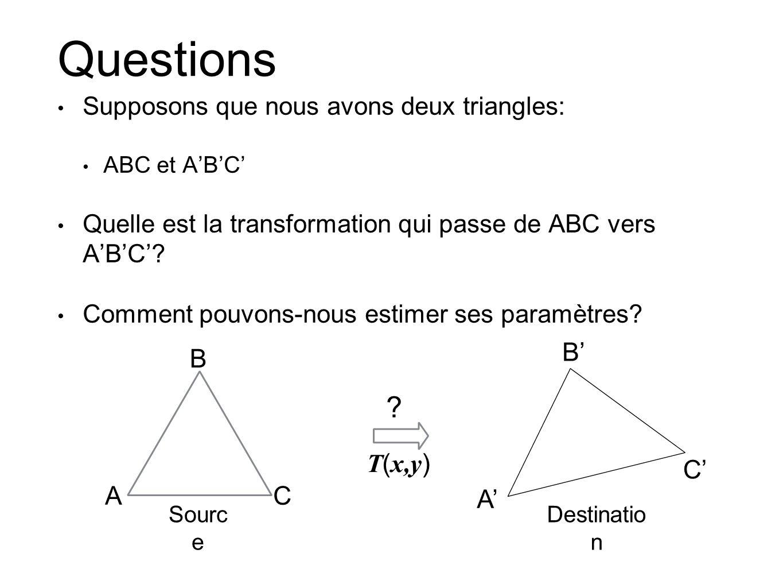 Questions B' B T(x,y) C' A C A'