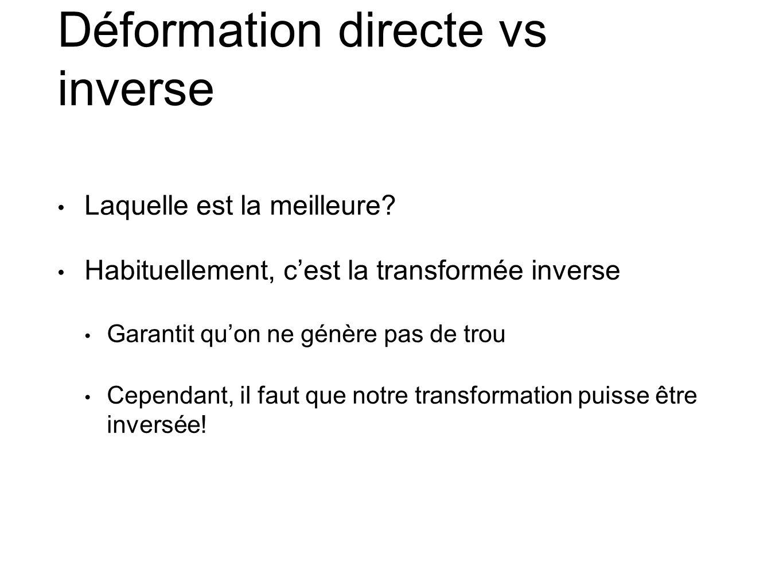 Déformation directe vs inverse