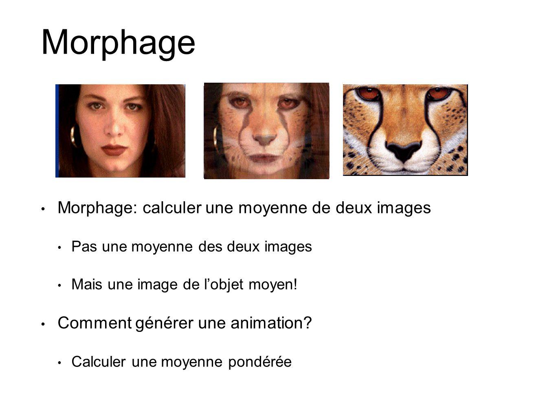 Morphage Morphage: calculer une moyenne de deux images