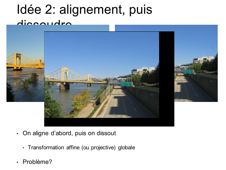 Idée 2: alignement, puis dissoudre
