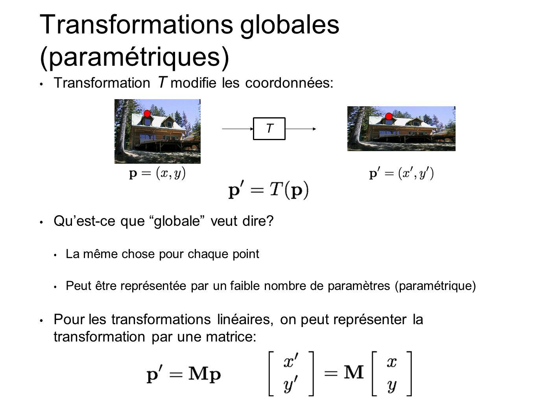 Transformations globales (paramétriques)