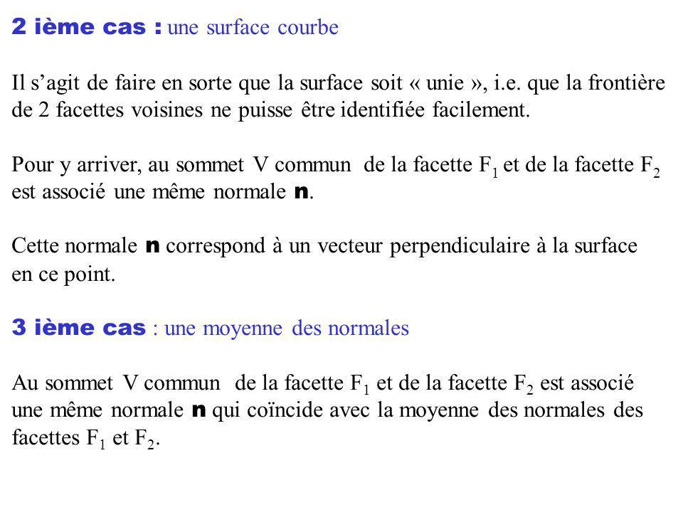 2 ième cas : une surface courbe