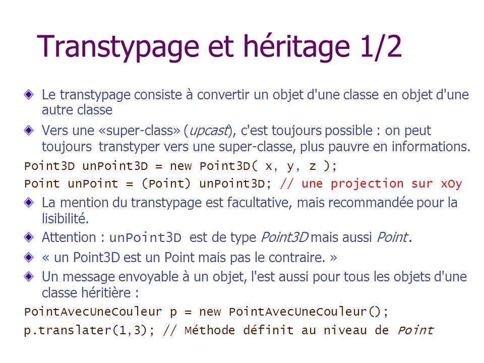 Transtypage et héritage 1/2