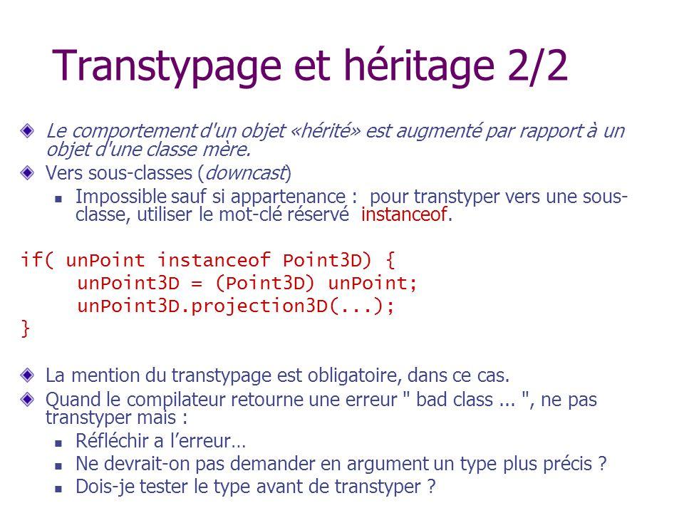 Transtypage et héritage 2/2