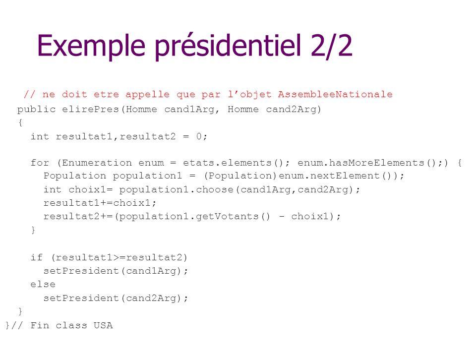 Exemple présidentiel 2/2