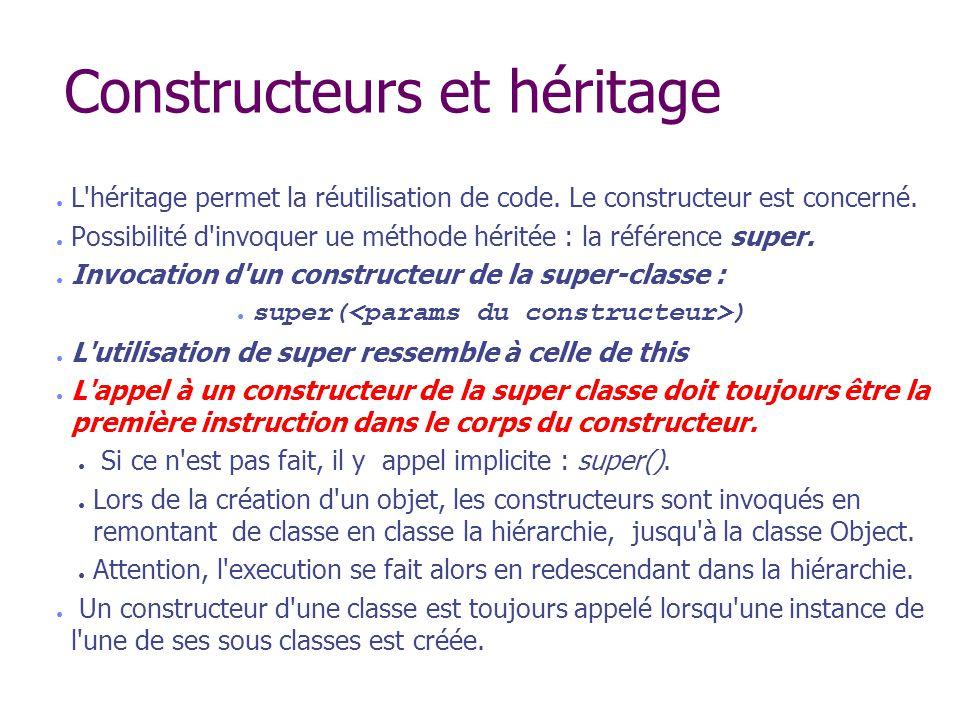Constructeurs et héritage