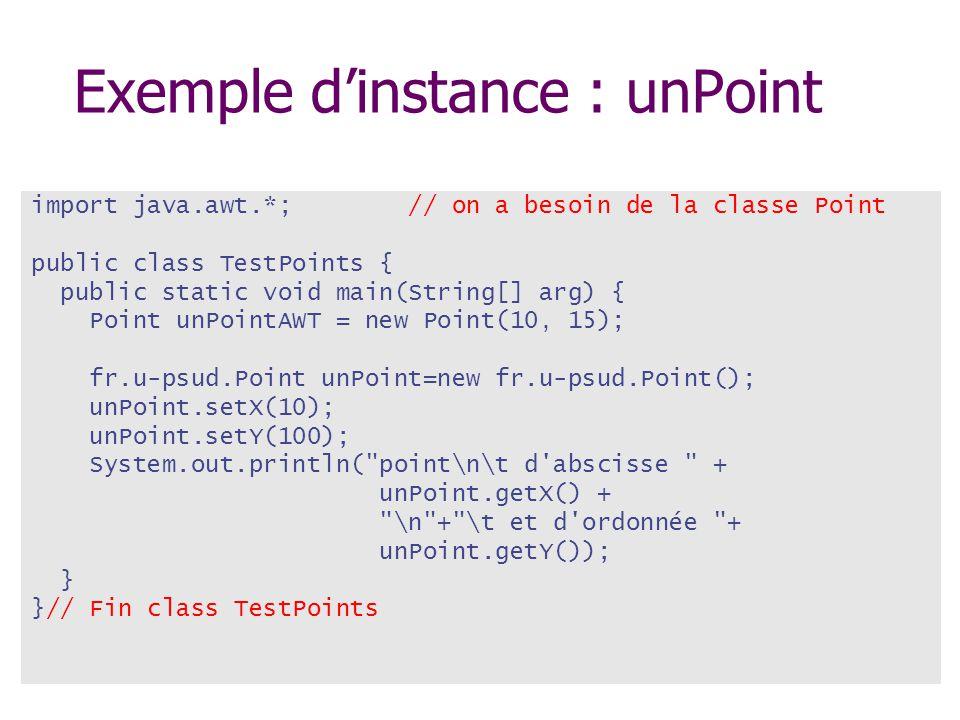 Exemple d'instance : unPoint