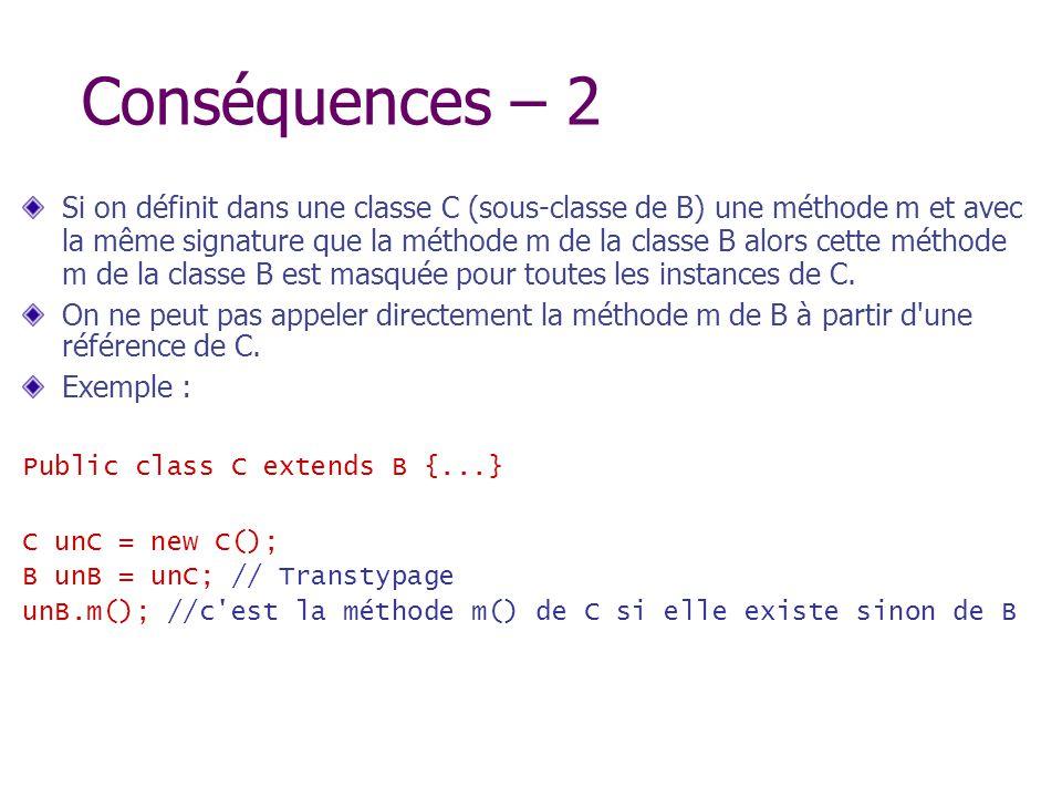 Conséquences – 2