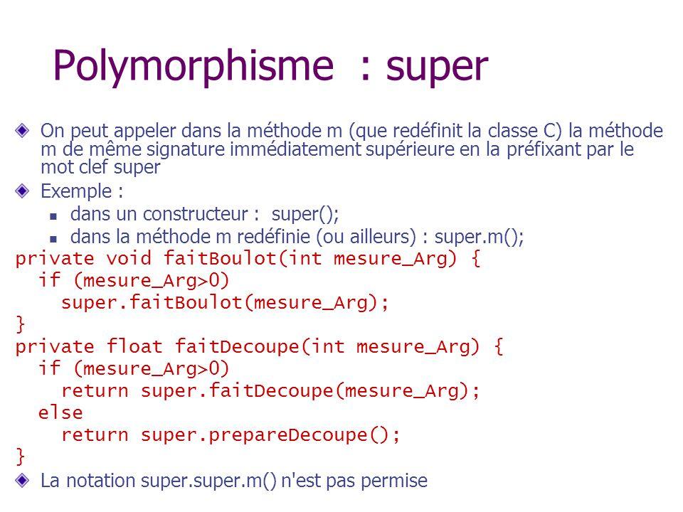 Polymorphisme : super
