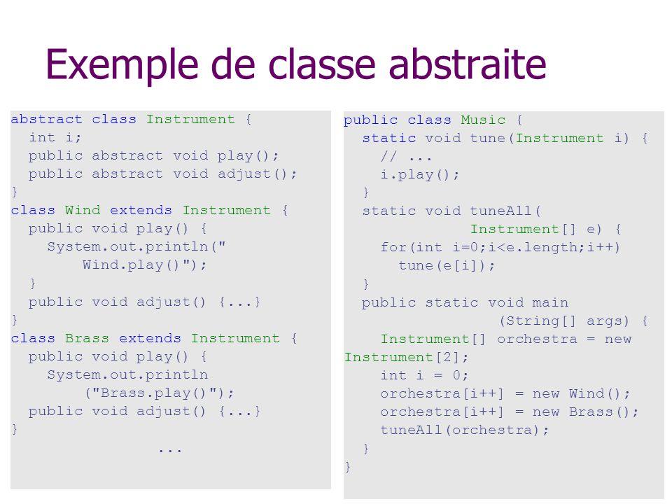Exemple de classe abstraite