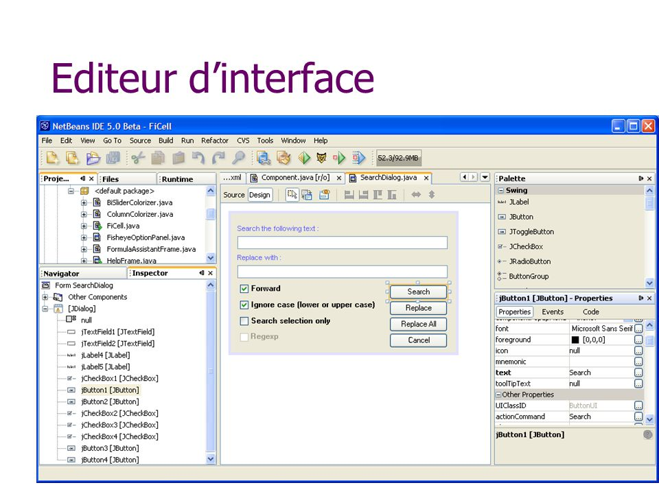 Editeur d'interface