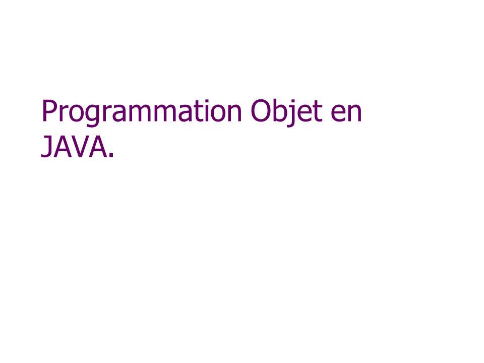 Programmation Objet en JAVA.