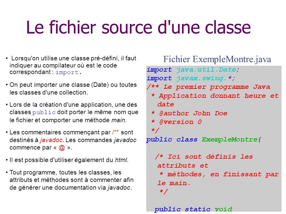 Le fichier source d une classe