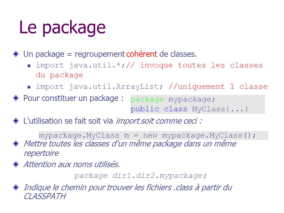 package dir1.dir2.mypackage;