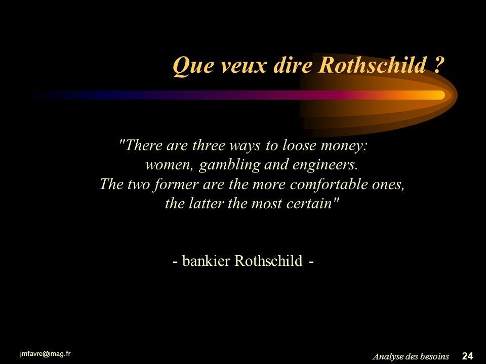 Que veux dire Rothschild