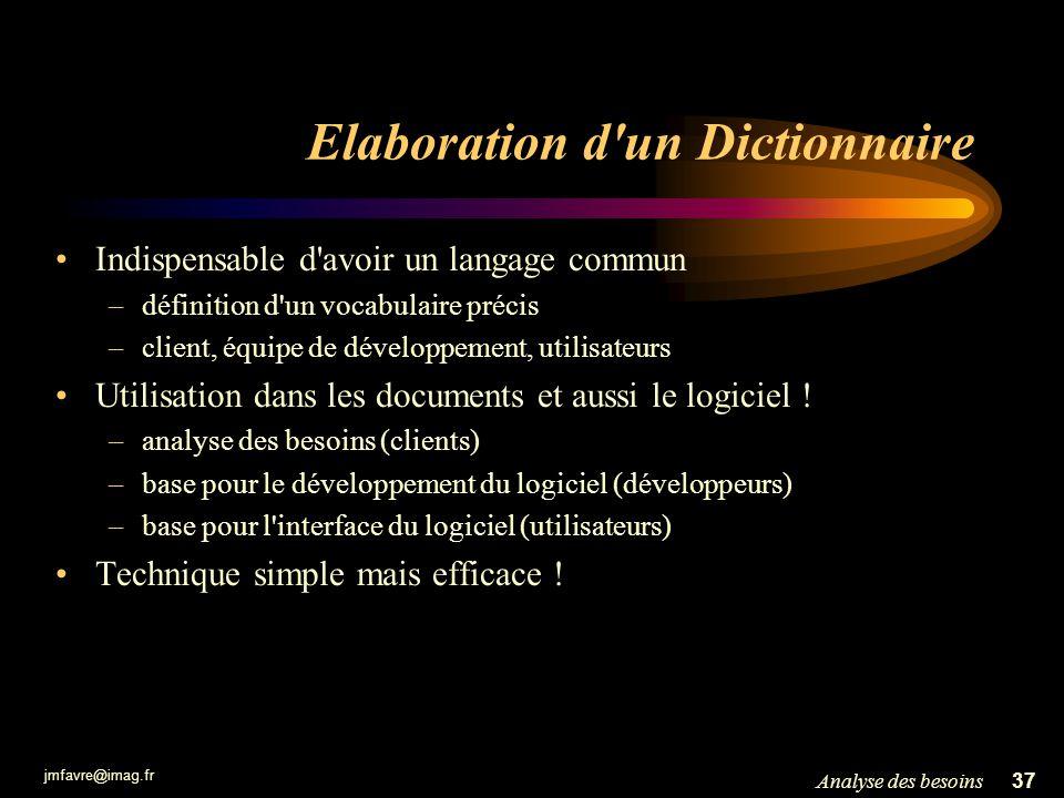 Elaboration d un Dictionnaire
