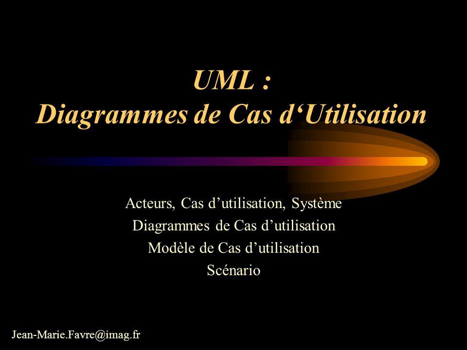 UML : Diagrammes de Cas d'Utilisation