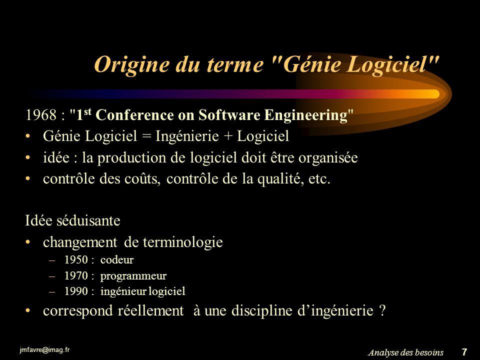 Origine du terme Génie Logiciel