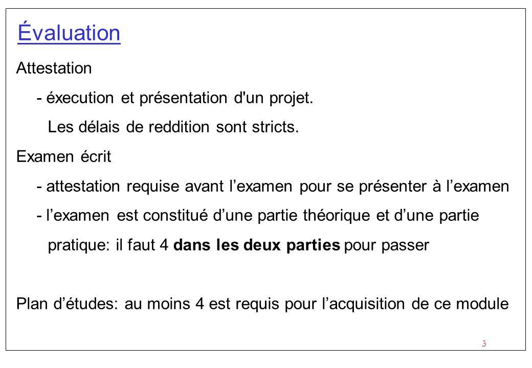 Évaluation Attestation - éxecution et présentation d un projet.
