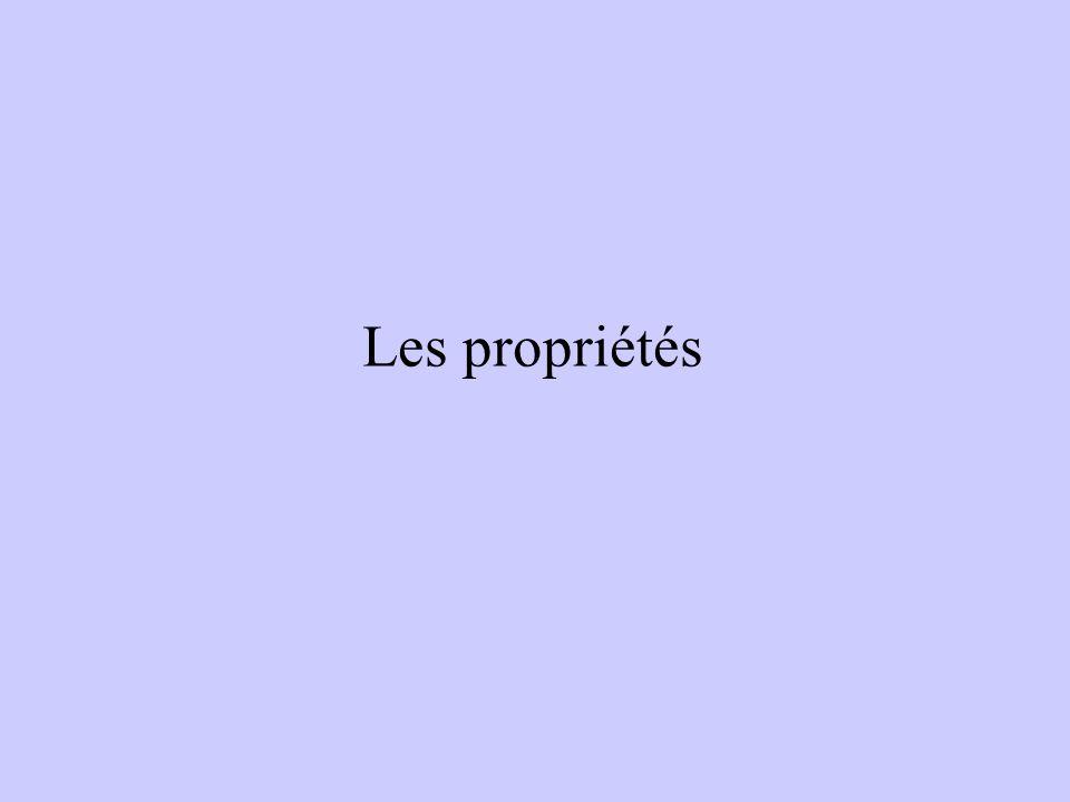 Les propriétés