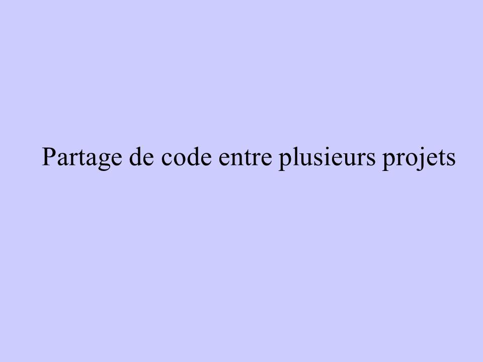 Partage de code entre plusieurs projets