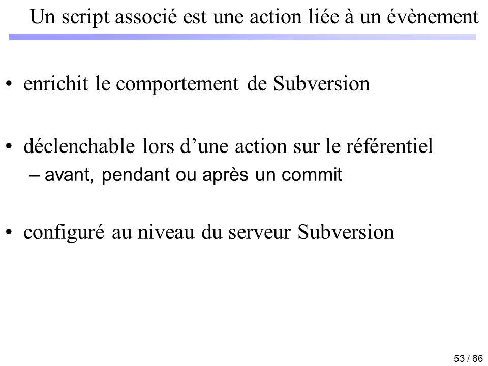 Un script associé est une action liée à un évènement