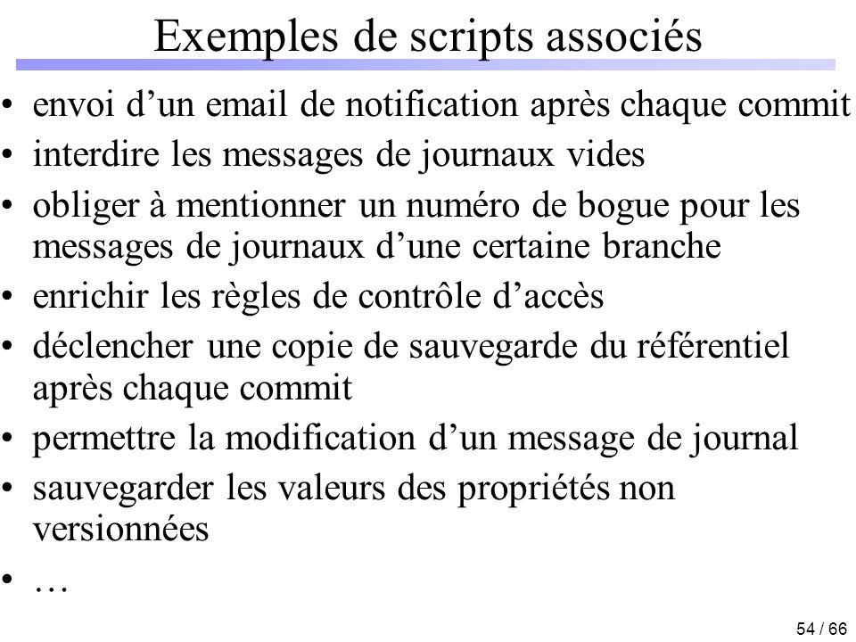 Exemples de scripts associés